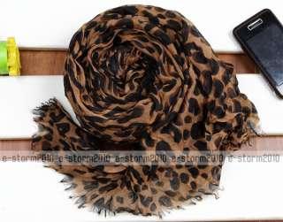 Celebrity Hot Large Animal Leopard Print Shawl Scarf