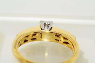 21CT INVISIBLE SET PRINCESS & ROUND CUT DIAMOND RING SIZE 6.75