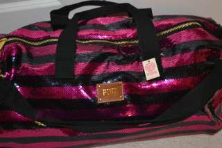 Pink Bling Sequin Fashion Show 2011 Travel Duffle Bag Tote