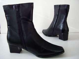 SAADAT ITALIAN Design Black Shoes Boots Women Size 10