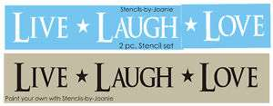 pc STENCIL Live Laugh Love Family Home Primitive Sign