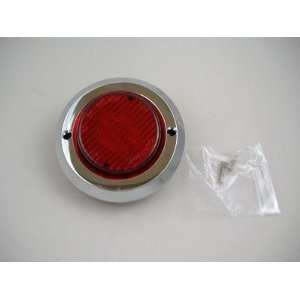 com Red 2 Round 9 LED Truck Trailer Side Marker Clearance Light Kit