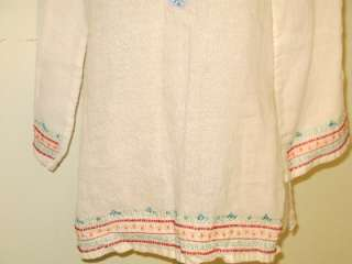 White COTTON Ethnic Indian sequin Bead Top Shirt Tunic