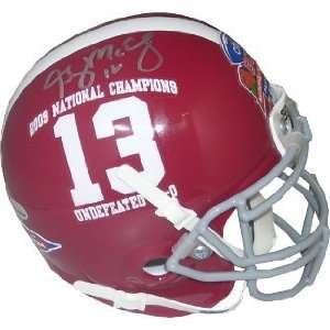 Greg McElroy signed Alabama Crimson Tide Authentic Schutt