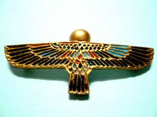 EGYPTIAN MINIATURE ANTIQUE ARTIFACT WINGED ISIS EMBLEM