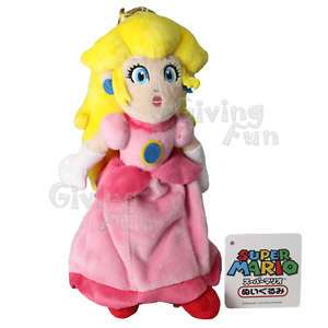 GENUINE Super Mario Bros 9 Princess Peach Plush Doll