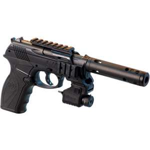 Crosman Tactical C11 BB Air Pistol, CO2 Powered Air Pistol, Laser Air