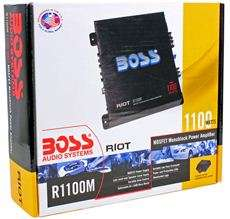 Boss Riot R1100M 1100 Watt Mono Car Audio Power Amplifier Amp + Sub