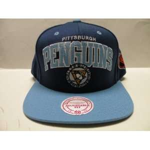 com Mitchell & Ness NHL Pittsburgh Penguins Arch Blue 2 Tone Snapback