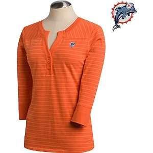 Cutter & Buck Miami Dolphins Womens 3/4 Sleeve Cheerleader T Shirt