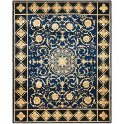Asian Hand knotted Majesty Royal Blue Wool Rug (9 x 12)