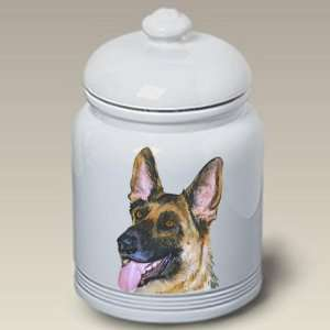 German Shepherd Dog Cookie Jar by Barbara Van Vliet