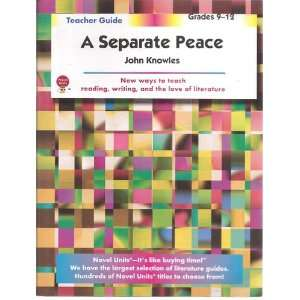 Separate Peace   Teacher Guide by Novel Units, Inc
