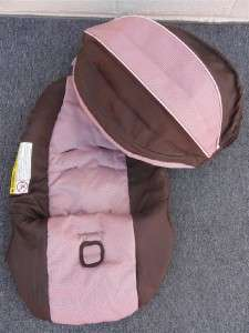 Graco SnugRide Infant Car Seat Cover & Canopy Set * Pink/Brown
