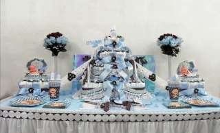Boys Baby Shower Diaper Cake Centerpiece/Gift/Decoration/Favor/Theme
