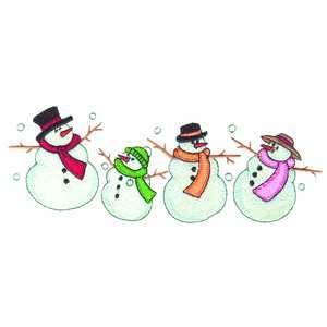 Brother/Babylock Embroidery Machine Card JUMBO SNOWMEN