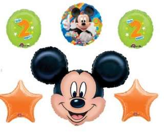 MICKEY MOUSE 2ND BIRTHDAY party supplies balloons two
