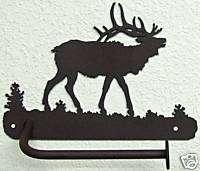 ELK T PAPER HOLDER RUSTIC WILDLIFE METAL ART BATH DECOR