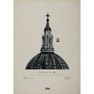 1905 Dome St. Pauls Cathedral London England Print
