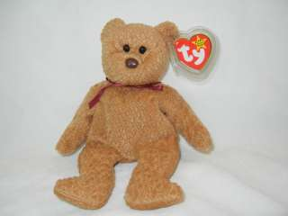 ADORABLE **Curly** Excellent TY BEANIE BABY Teddy Bear Tags*MINT MWT