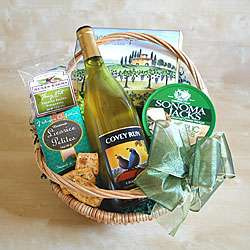 Wine and Cheese Gourmet Gift Basket