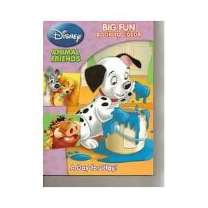 Disney Animal Friends Big Fun Book to Color ~ A Day for