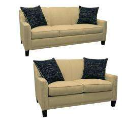 Avery Cream Fabric Sofa Bed Sleeper and Loveseat  Overstock