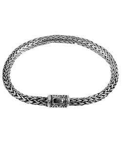 Sterling Silver Bali Style Snake Bracelet
