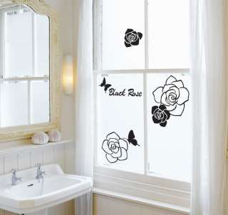 BLACK ROSE Vinyl Wall Art Deco Sticker Decal GS810