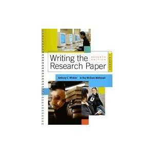 Writing the Research Paper A Handbook [Spiral  bound