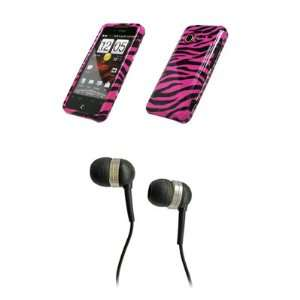 HTC Droid Incredible Premium Hot Pink Zebra Skin Design Snap on Case