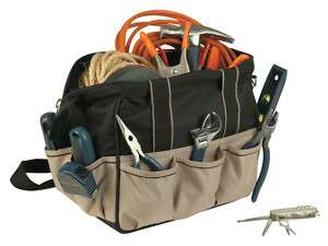 Tool Bag w Padded Handle, Shoulder Strap,10 Pockets New