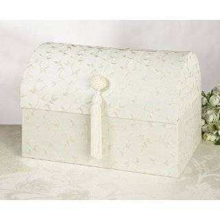 Wedding Card Box   Ivory Embroidery Wedding Money Box