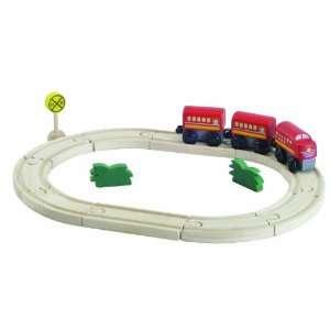 Plan Toys Plancity Oval Train Set Toys & Games