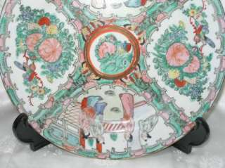 PRETTY ANTIQUE ROSE MEDALLION CHINESE PLATE