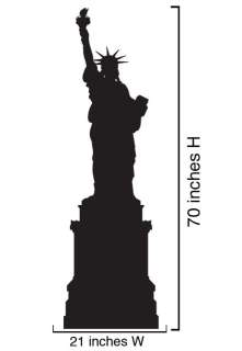 Vinyl Wall Decal Sticker Statue of Liberty NYC 21x70