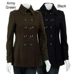Miss Sixty Womens Double breasted Wool Pea Coat