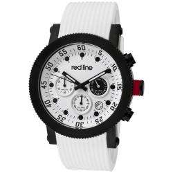 Red Line Mens Compressor White Silicon Watch