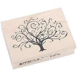Inkadinkado Flourished Fall Tree Rubber Stamp