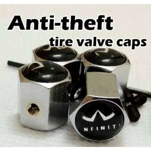 Infiniti Anti Theft Tire stem Valve Caps (4 pcs) Automotive