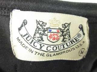 JUICY COUTURE Black Crew Neck Longsleeve Shirt Top Sz M