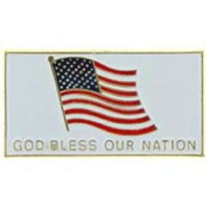 American Flag God Bless Our Nation Pin 1 Arts, Crafts