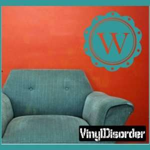 Letter W Monogram Letters Vinyl Wall Decal Sticker Mural Quotes Words