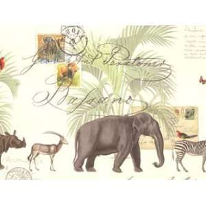Jungle Animals Rolled Gift Wrap Paper