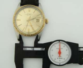 1967 ROLEX DATEJUST TWO TONE DIAL SS GOLD ref 1601 VINTAGE AUTOMATIC