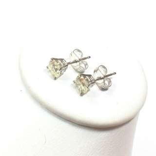 14k White Gold Stud Solitaire Round Cut Natural Diamonds 0.80ctw