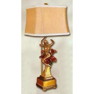 Hand Painted Dancer Sculpture Lamp Home Improvement
