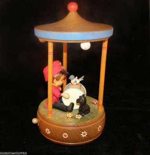 Vintage ANRI Music Box LITTLE DRUMMER BOY Carousel