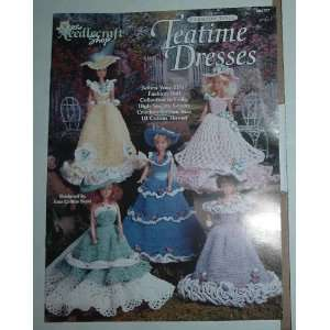 Crochet Fashion Doll Teatime Dresses Inez Collins Scott