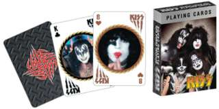 KISS COLLECTABLE POKER PLAYING CARDS 52 DESIGNS